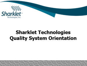 Sharklet Quality System Orientation / Refresher
